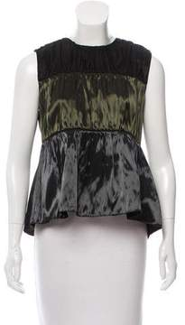 Sara Lanzi Ruched Metallic Top