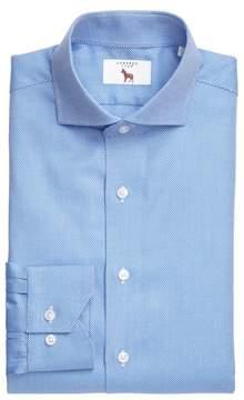 Lorenzo Uomo Men's Trim Fit Texture Dress Shirt