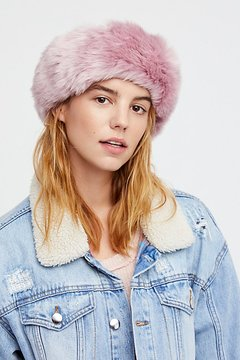 Free People Cabin Fever Faux Fur Headband