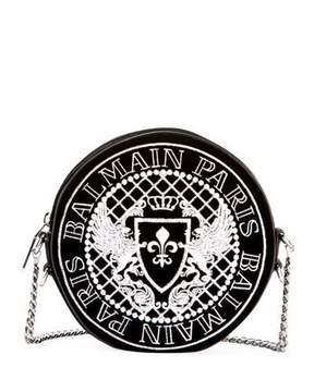 Balmain Disco Broderie Crossbody Bag