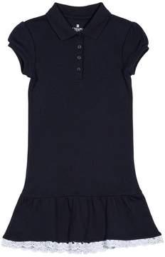 Chaps Girls 4-6x School Uniform Drop Waist Polo Dress