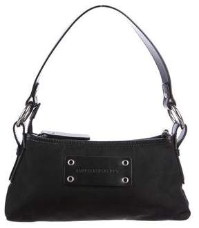 Burberry Leather-Trimmed Canvas Pochette