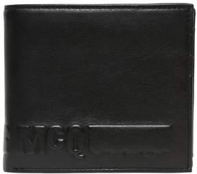 McQ Embossed Logo Leather Coin Wallet