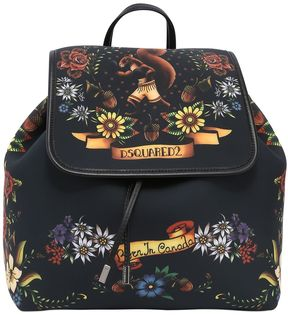 Tattoo Printed Neoprene Backpack