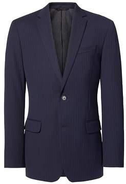 Banana Republic Slim Navy Pinstripe Wool Suit Jacket