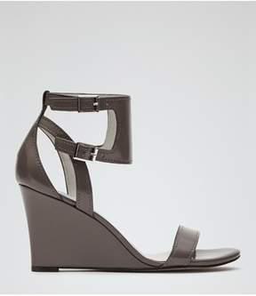Reiss Womens Collins Open Toe Casual Platform Sandals.