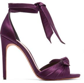 Alexandre Birman Jessica Bow-embellished Satin Sandals - Grape