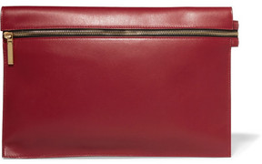 Victoria Beckham - Large Leather Clutch - Red