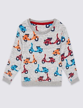 Marks and Spencer Printed Sweatshirt (3 Months - 5 Years)