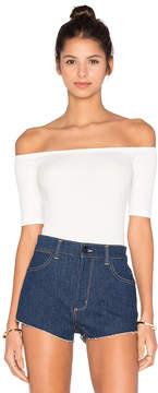 Capulet Short Sleeve Shoulderless Bodysuit
