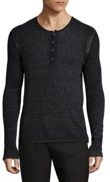 John Varvatos Knitted Long Sleeve Sweater