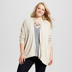 Ava & Viv Women's Plus Size Textured Open Cardigan