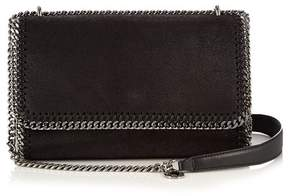 Stella McCartney Falabella Faux Suede Sliding Shoulder Bag - Womens - Black