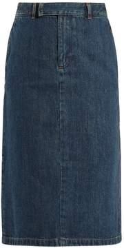 A.P.C. Constance high-rise denim midi skirt