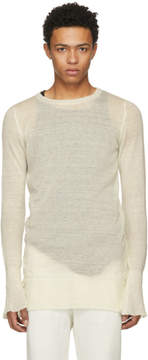 Ann Demeulemeester Off-White Corolla Pullover