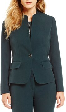Kasper Petite Stretch Crepe Jacket