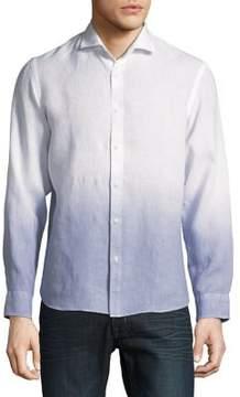 Black & Brown Black Brown Ombre Linen Button-Down Shirt