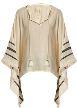 Velvet by Graham & Spencer X Kirsty Hume Petunia cotton poncho top
