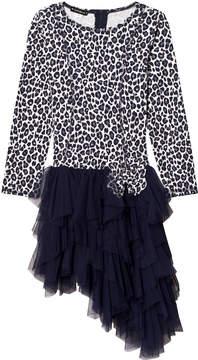 Kate Mack Biscotti Dark Blue and White Dress