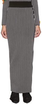 Christopher Kane Black and White Striped Skirt