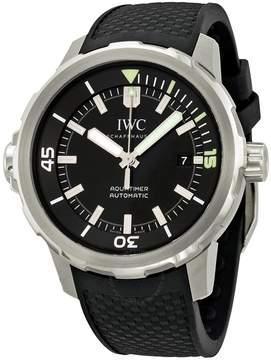 IWC Aquatimer Black Dial Black Rubber Men's Watch