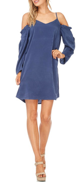 Everly Navy Cold Shoulder Dress