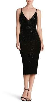 Dress the Population Women's Nina Sequin Velvet Body-Con Dress