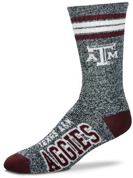 For Bare Feet Adult Texas A&M Aggies Got Marbled Crew Socks