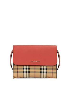 Burberry Loxley Haymarket Small Shoulder Bag, Red Pattern - RED PATTERN - STYLE