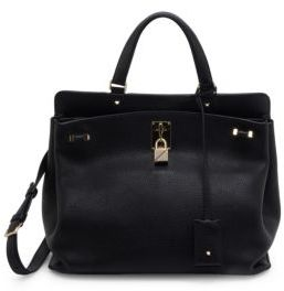 VALENTINO GARAVANI Medium Piper Leather Top Handle Bag