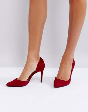 MANGO Red Pointed Court Shoe