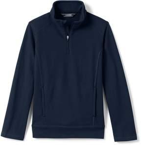 Lands' End Lands'end School Uniform Boys French Terry Half Zip Pullover