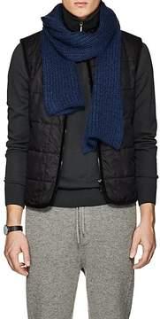 Barneys New York Men's Rib-Knit Mohair-Blend Scarf
