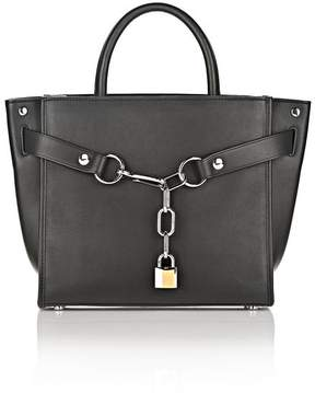 Alexander Wang ATTICA CHAIN LARGE SATCHEL IN BLACK WITH RHODIUM