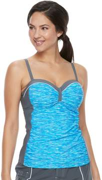 Free Country Women's Bust Enhancer Underwire Tankini Top