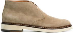 Santoni tie ankle boots