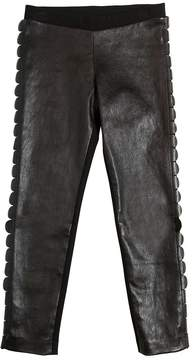Fendi Faux Leather & Milano Jersey Leggings