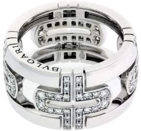 Bulgari 18K White Gold Large Parentesi Band Ring