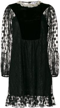 Blugirl lace and velvet mini-dress