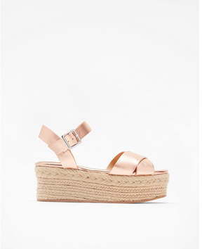 Express metallic platform espadrille sandals