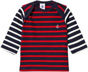 Petit Bateau Marine Red Fine Knitted Sweater