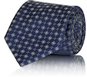 Brioni Men's Diamond-Pattern Silk Jacquard Necktie