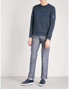 BOSS GREEN Embossed logo cotton-jersey sweatshirt
