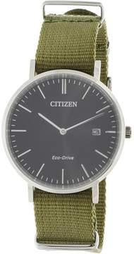 Citizen Men's Eco-Drive AU1080-38E Silver Cloth Japanese Quartz Fashion Watch