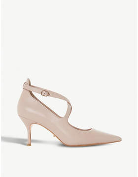 Dune Adline pointed leather court shoes