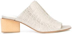 Zero Maria Cornejo contrast colour open toe mules