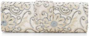 Adrianna Papell Kysha Velvet Embroidery Sequin Clutch