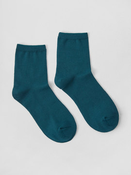 Frank and Oak Mid-Calf Cotton Socks in Teal