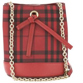 Burberry Red Horseferry Check Overdyed Baby Bucket Bag (New with Tags) - ONE COLOR - STYLE
