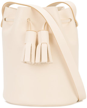 Building Block tassel detail bucket bag